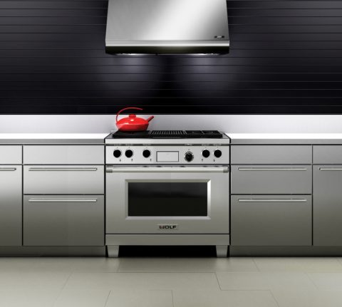 Wolf dual fuel range cooker